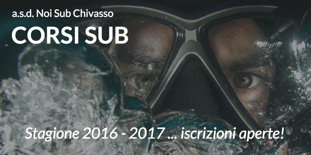Iscrizioni ai Corsi di Subacquea - Stagione 2016 - 2017